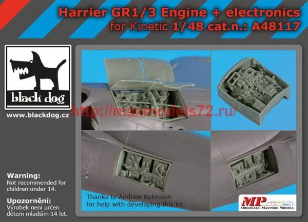 BDA48117   1/48  Harrier GR 1/3 engine +electronics (thumb55438)
