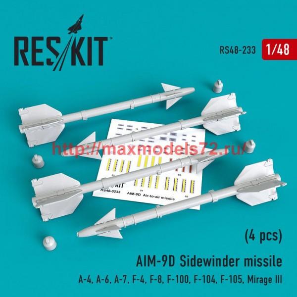RS48-0233   AIM-9D Sidewinder  missile (4 pcs) A-4, A-6, A-7, F-4, F-8, F-100, F-104, F-105,  Mirage III (thumb50212)