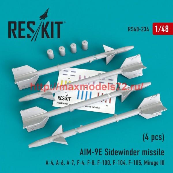 RS48-0234   AIM-9E Sidewinder  missile (4 pcs) A-4, A-6, A-7, F-4, F-8, F-100, F-104, F-105,  Mirage III (thumb50214)