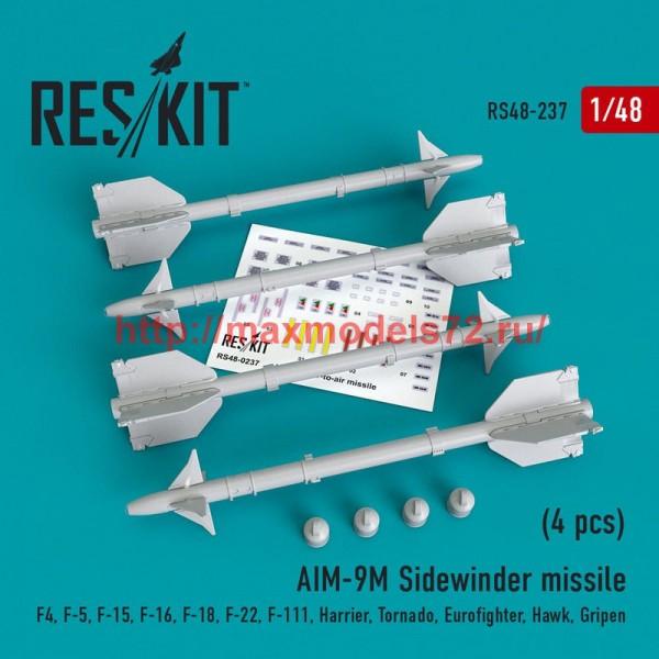 RS48-0237   AIM-9M Sidewinder  missile (4 pcs)  F4, F-5, F-15, F-16, F-18, F-22, F-111, Harrier, Tornado, Eurofighter, Hawk, Gripen (thumb50220)