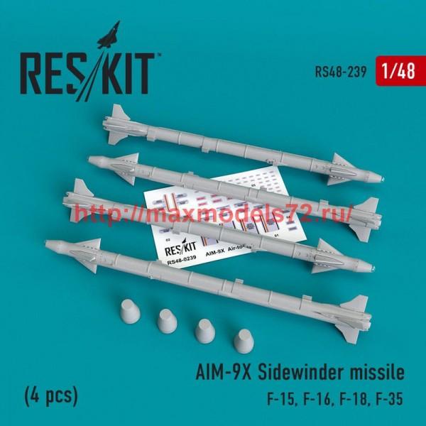 RS48-0239   AIM-9X Sidewinder  missile (4 pcs) F-15, F-16, F-18, F-35 (thumb50224)
