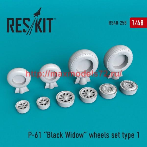 RS48-0258   P-61 Black Widow wheels set (thumb50242)