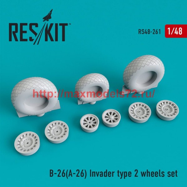 RS48-0261   B-26 (A-26)  Invader type 2 wheels set (thumb50248)