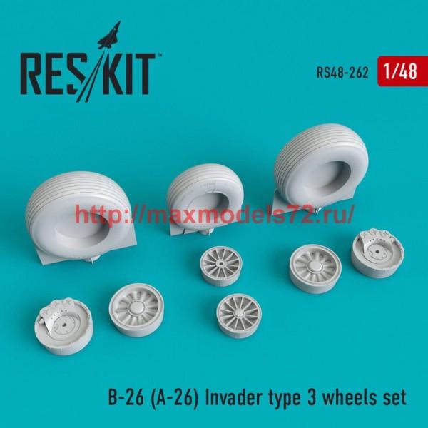 RS48-0262   B-26 (A-26)  Invader type 3 wheels set (thumb50250)