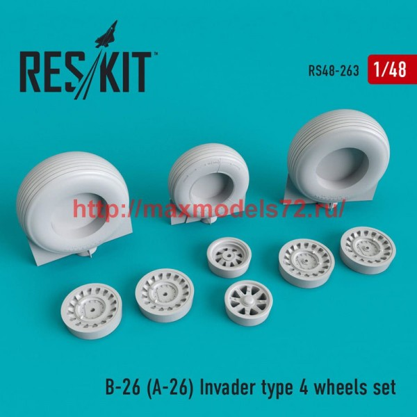 RS48-0263   B-26 (A-26) Invader  type 4 wheels set (thumb50252)