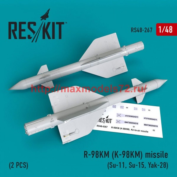 RS48-0267   R-98 KM (K-98KM) missile (2 PCS)  (Su-11, Su-15, Yak-28) (thumb50256)