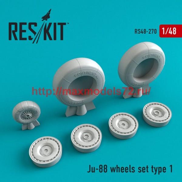 RS48-0270   Ju-88 wheels set  type 1 (thumb50262)