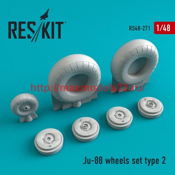 RS48-0271   Ju-88 wheels set  type 2 (thumb50264)