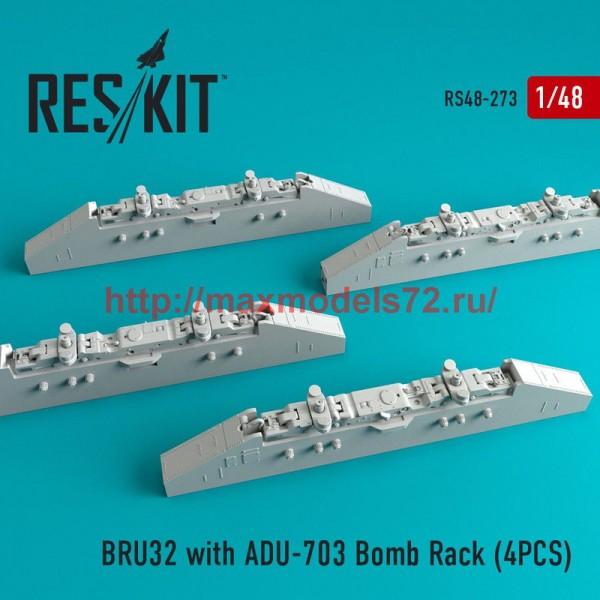RS48-0273   BRU32 with ADU-703 Bomb Rack (4PCS) F-14D/B (thumb50268)