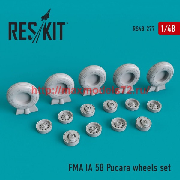 RS48-0277   FMA IA 58 Pucar? (Pucara) wheels set (thumb50276)