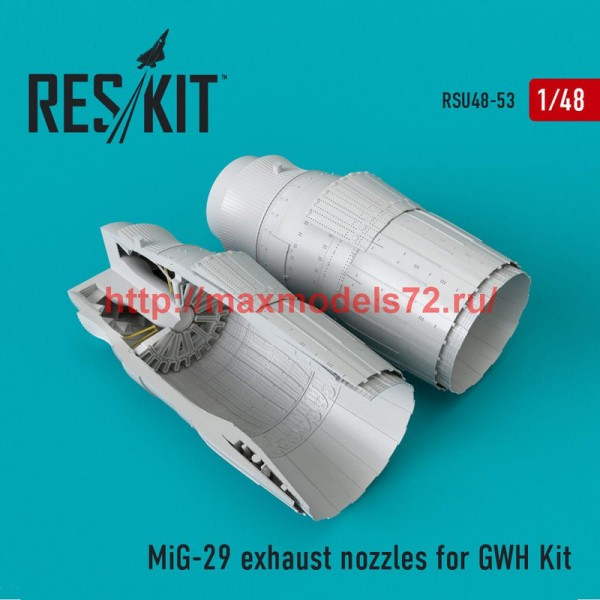 RSU48-0053   MiG-29 exhaust nozzles for GWH Kit (thumb50278)
