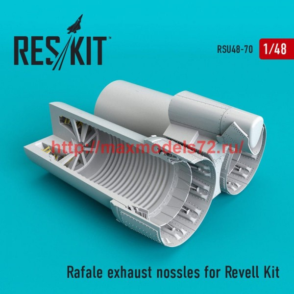 RSU48-0070   Rafale exhaust nossles for Revell Kit (thumb50282)