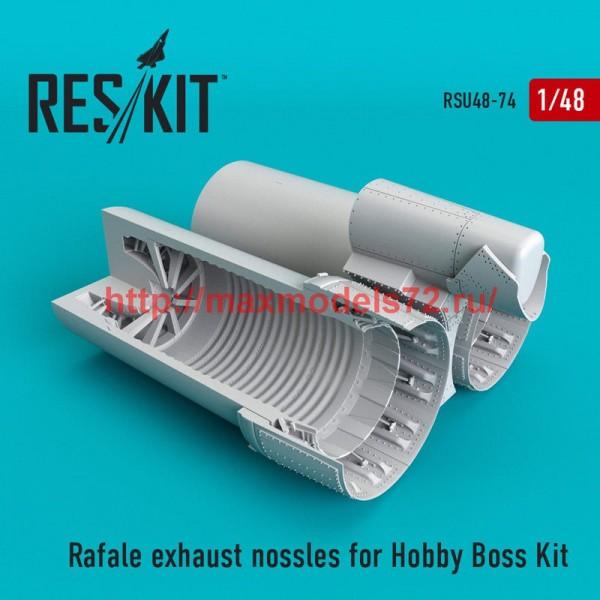 RSU48-0074   Rafale exhaust nossles for Hobby Boss Kit (thumb50284)