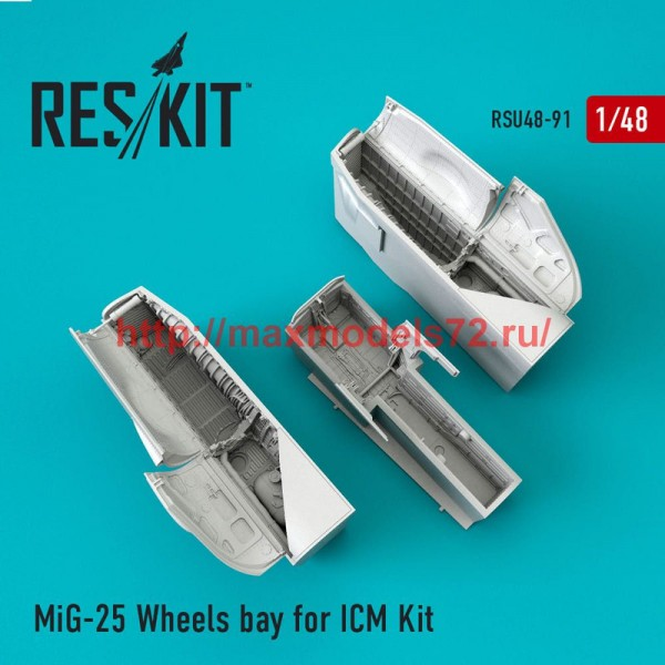 RSU48-0091   MiG-25 Wheels bay for ICM Kit (thumb50300)