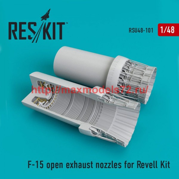 RSU48-0101   F-15 open exhaust nozzles  for Revell Kit (thumb50308)