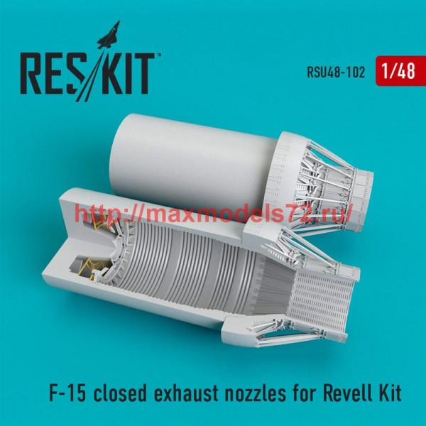 RSU48-0102   F-15 closed exhaust nozzles for  Revell Kit (thumb50310)