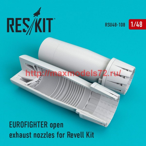 RSU48-0108   Eurofighter open exhaust nozzles for Revell Kit (thumb50322)