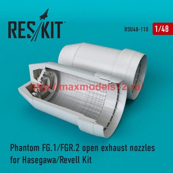 RSU48-0110   Phantom (FG.1/FGR.2) open exhaust nozzles for Hasegawa/Revell Kit (thumb50326)