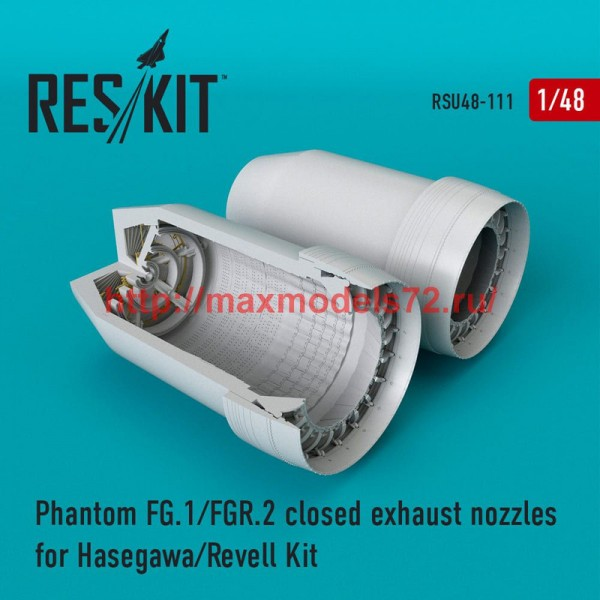 RSU48-0111   Phantom (FG.1/FGR.2) closed exhaust nozzles for Hasegawa/Revell Kit (thumb50328)