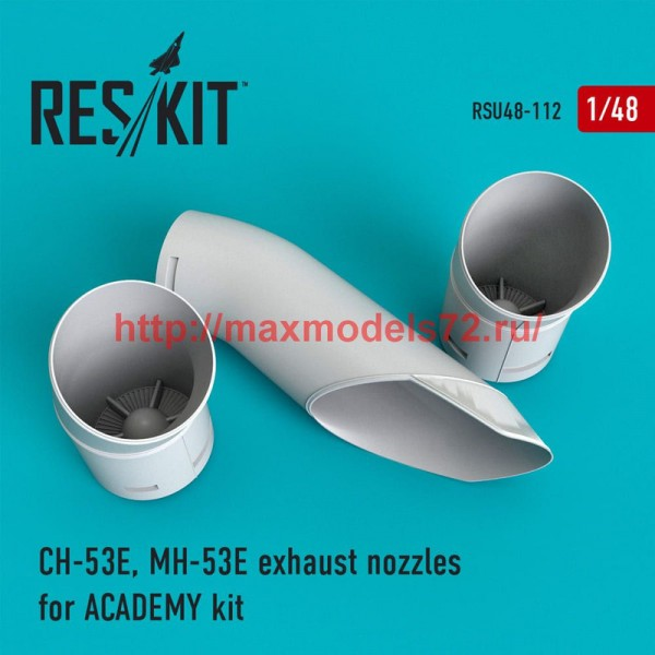 RSU48-0112   CH-53E, MH-53E exhaust nozzles for ACADEMY kit (thumb50330)