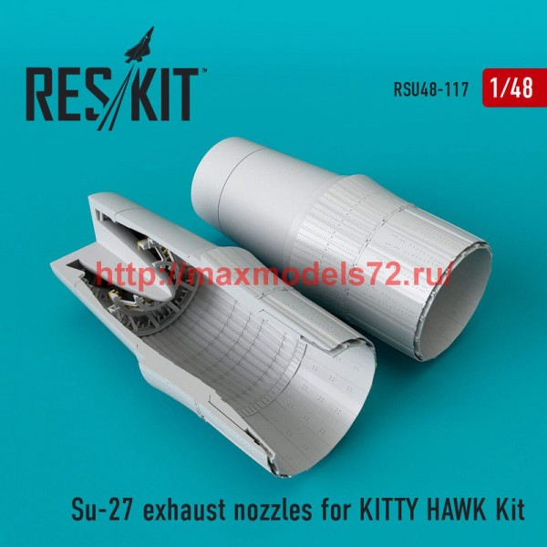 RSU48-0117   Su-27 exhaust nozzles for KITTY HAWK Kit (thumb50343)