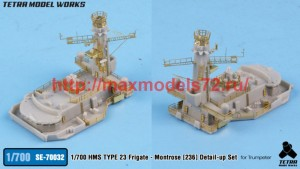 TetraSE-70032   1/700 HMS TYPE 23 Frigate - Montrose [F236] Detail-up Set (for Trumpeter) (attach2 50696)