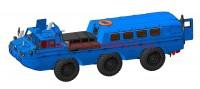 AMinA133456   Советский трехосный полноприводный автомобиль (пассажирский и грузовой). Шнекороторный снегоболотоход. Посадочный модуль. (attach4 52126)