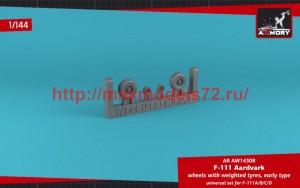 AR AW14308   1/144 F-111A/B/C/D Aardvark wheels w/ weighted tires (thumb50791)