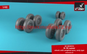 AR AW48332   1/48 B-1B Lancer wheels w/ weighted tires, early (attach1 50716)