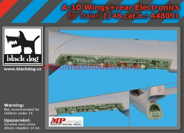 BDA48091   1/48 A-10 wings + rear electronics (thumb55234)