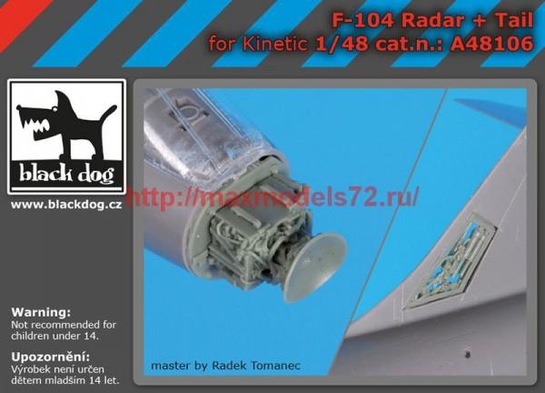 BDA48106   1/48 F,104 radar+tail (thumb55351)