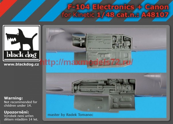 BDA48107   1/48 F-104 electronic+canon (thumb55359)