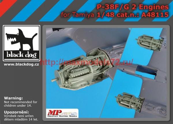 BDA48115   1/48 P-38 F-G engines (thumb55423)