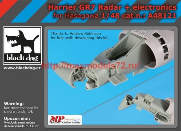 BDA48121   1/48 Harrier  GR 7 radar+electronics (thumb55474)