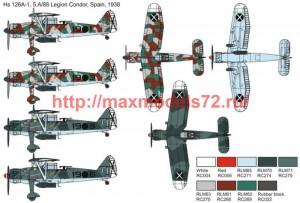 "BRP72044   Hs 126 A-1 ""Superpava"" Legion Condor (attach2 51138)"