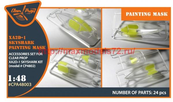 "CPA48003   XA2D-1 Skyshark  painting mask  made from ""yellow kabuki paper"" (thumb51637)"