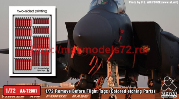 TetraAA-72001   1/72 Remove Before Flight Tags (Colored etching Parts) (thumb50707)