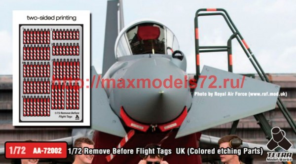 TetraAA-72002   1/72 Remove Before Flight Tags UK (Colored etching Parts) (thumb50709)