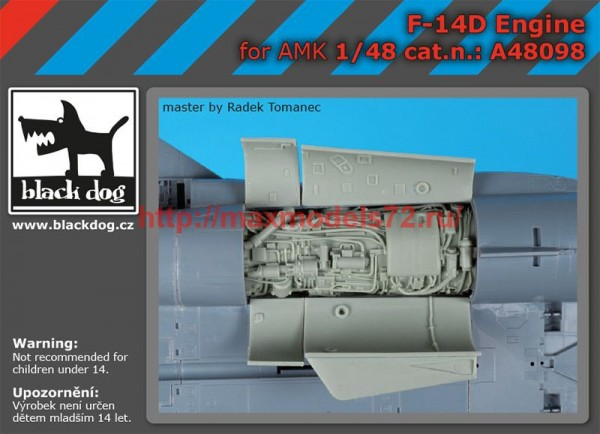 BDA48098   1/48 F-14 D engine (thumb55289)