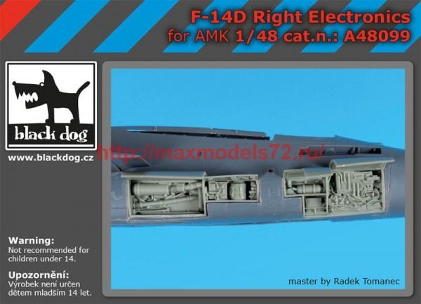 BDA48099   1/48 F-14 D  right electronics (thumb55296)