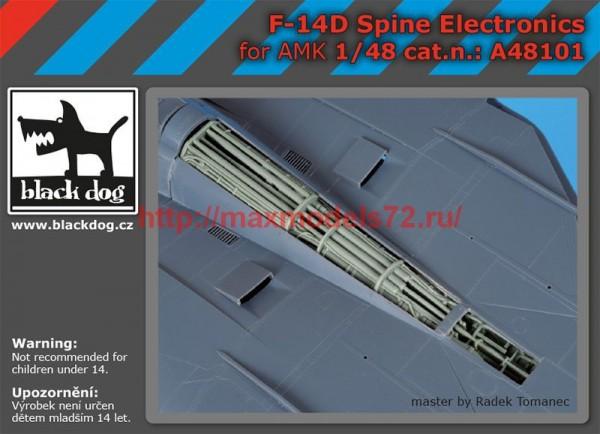 BDA48101   1/48 F-14 D spine electronics (thumb55310)