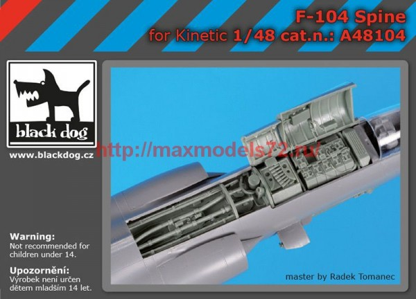 BDA48104   1/48 F-104 spine (thumb55337)
