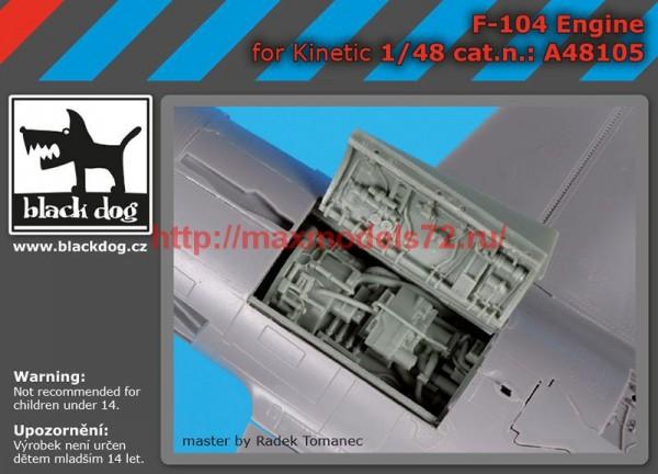 BDA48105   1/48 F 104 engine (thumb55344)