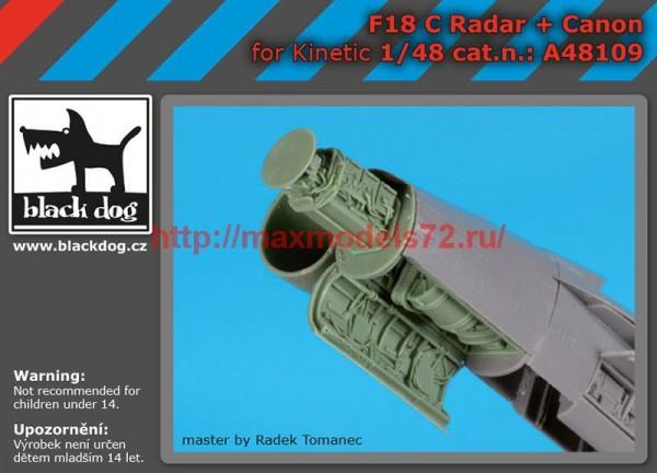 BDA48109   1/48 F 18 C radar+canon (thumb55376)