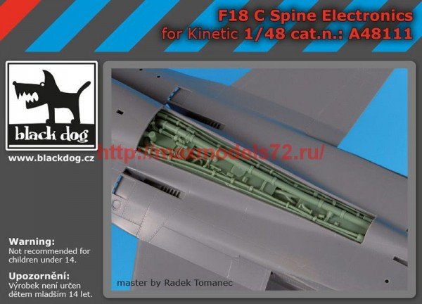 BDA48111   1/48 F-18 C spine electronic (thumb55391)