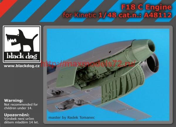 BDA48112   1/48 F 18 C engine (thumb55398)