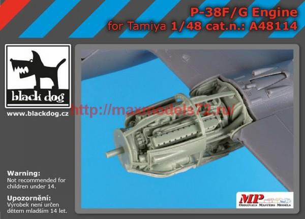 BDA48114   1/48P 38 F-G engine (thumb55416)