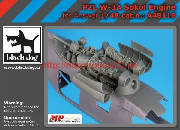 BDA48116   1/48 PZL W-3A Sokol engine (thumb55431)