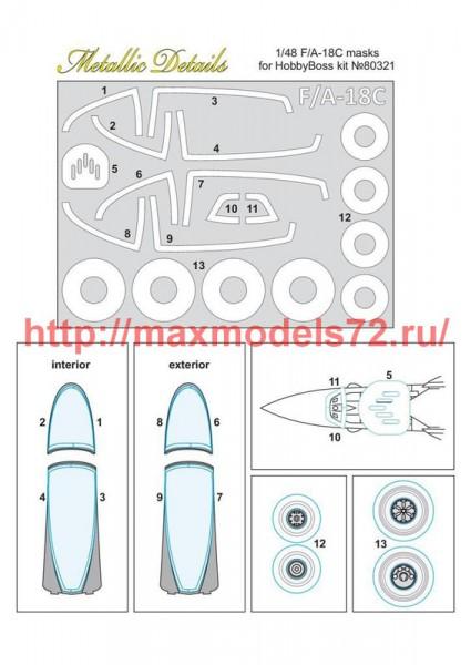 MDM4801   F/A-18C. Masks (HobbyBoss) (thumb51370)