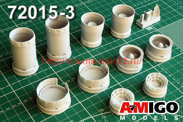 АМG 72015-3   МиГ-25П/ ПД/ ПУ реактивное сопло двигателя Р15Б-300 (thumb52739)